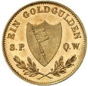 1 Goldgulden - Ludwig II. (Neujahrsgoldgulden) – reverse