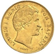 1 Goldgulden - Ludwig I. (Neujahrsgoldgulden) – obverse