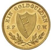 1 Goldgulden - Ludwig I. (Neujahrsgoldgulden) – reverse