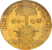 1 Goldgulden - Maximilian IV Joseph von Bayern – reverse