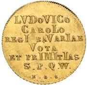 1 Goldgulden - Ludwig I (Neujahrsgoldgulden) – reverse
