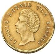 1 Goldgulden - Ludwig I (Neujahrsgoldgulden) – obverse