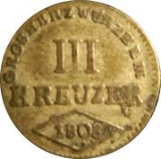 3 Kreuzer - Ferdinand III of Austria – reverse