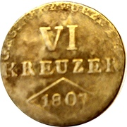 6 Kreuzer - Ferdinand – reverse