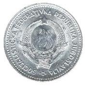 2 Dinara (SFR legend) – obverse