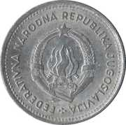 2 Dinara (FNR legend) – obverse