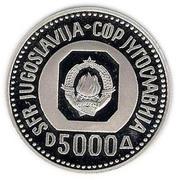 5000 Dinara (Vuk Karadžić) – obverse