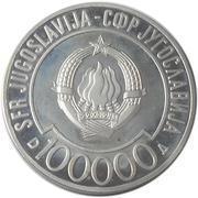 100 000 Dinara (Non-aligned Summit) – obverse