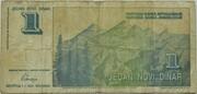1 Novi Dinar – reverse