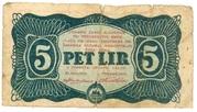5 Lir (Yugoslav Partisans - Slovenia) – obverse