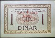 4 Krune (overprint on 1 dinar) – reverse