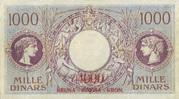 4000 Kruna (overprint on 1000 dinara) – reverse