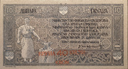 40 Kruna (overprint on 10 dinara) – obverse