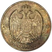 20 Dinara - Peter II – reverse