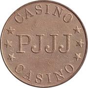 Game Token - Casino PJJJ (28.5 mm, Brass) – obverse