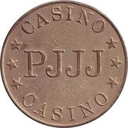 Game Token - Casino PJJJ (28.5 mm, Brass) – reverse