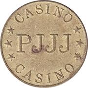 Game Token - Casino PJJJ (28.5 mm, Aluminium-bronze) – reverse
