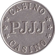 Game Token - Casino PJJJ (22 mm, Copper-nickel) – obverse