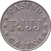 Game Token - Casino PJJJ (22 mm, Copper-nickel) – reverse