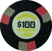 100 Dollars - Harold's Maestral Yu Casino (Miločer, Montenegro) – reverse