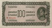 100 Dinara 1944 – obverse