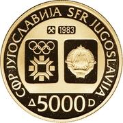 5000 Dinara (Winter Olympics 1984 - Tito) – obverse