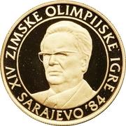 5000 Dinara (Winter Olympics 1984 - Tito) – reverse