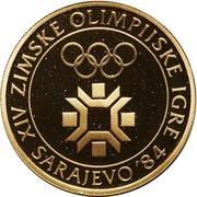 5000 Dinara (Winter Olympics 1984 - Emblem) – reverse