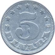 5 Dinara (FNR legend) -  reverse