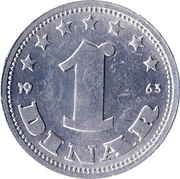 1 Dinar (SFR legend) – reverse