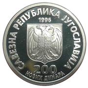 200 Novih Dinara (Nikola Tesla) – obverse