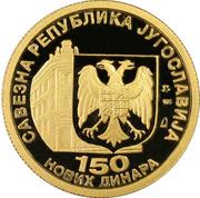 150 Novih Dinara (National Bank) – obverse