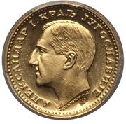 1 Dukat - Aleksandar I – obverse