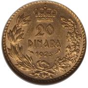 20 Dinara - Alexandar I – reverse