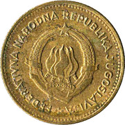 10 Dinara (FNR legend) -  obverse