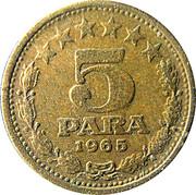 5 Para (1965) – reverse