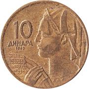 10 Dinara (SFR legend) – reverse