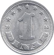 1 Dinar (FNR legend) – reverse