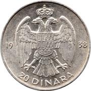 20 Dinara - Petar II – reverse