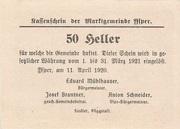 50 Heller (Ysper) -  reverse