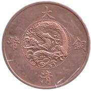 20 Cash (Yun-nan Province; counterfeit) – reverse