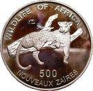 500 Nouveaux Zaïres (Leopard) – reverse