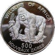500 Nouveaux Zaïres (Gorilla) – reverse