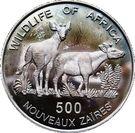 500 Nouveaux Zaïres (Okapi) – reverse