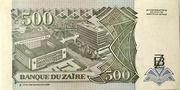 500 Nouveaux Zaïres – reverse