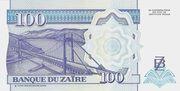 100 Nouveaux Zaires -  reverse