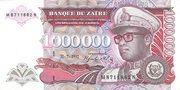 1,000,000 Zaires – obverse