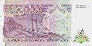 1,000,000 Zaires – reverse