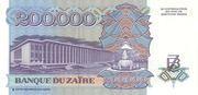 200 000 Zaires – reverse