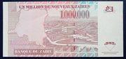 1,000,000 Nouveaux Zaīres – reverse